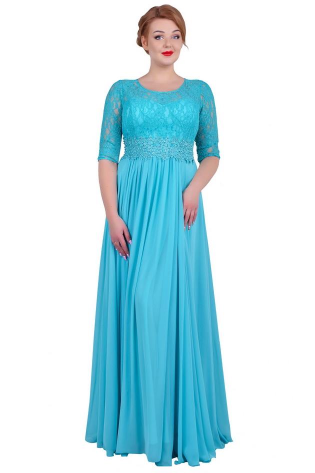 Арт: 34-49. Вечернее платье с аппликацией на поясе Вечерние фото 1
