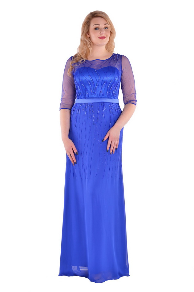 Арт: 35-08. Платье с набивными бусами Бестселлер фото 1