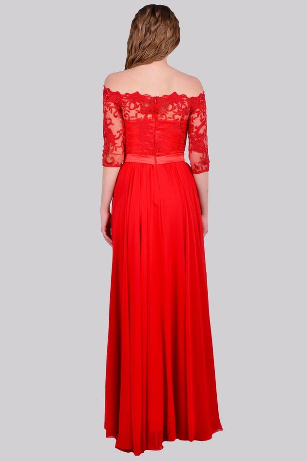 Арт: 35-56. Вечернее платье с открытыми плечами Выпускные фото 1