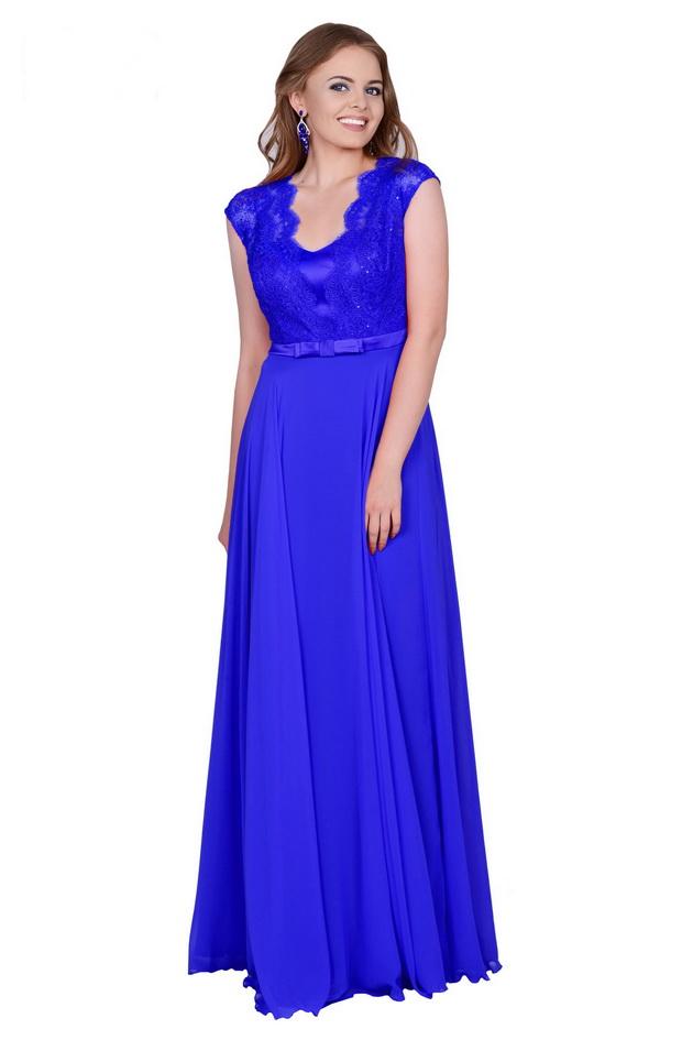 Арт: 37-27. Вечернее платье с кружевным лифом Вечерние фото 1