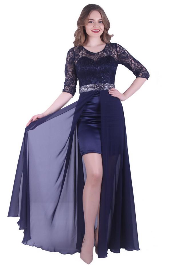 Арт: 38-02. Вечернее платье с двойной юбкой Вечерние фото 1