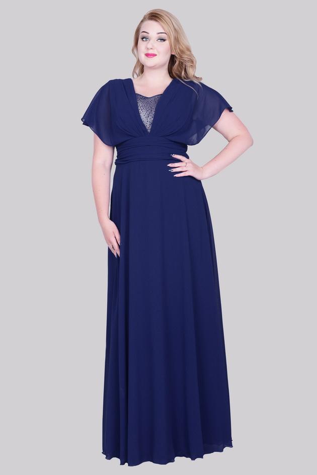 Арт: 39-71. Вечернее платье из шифона с V-образным вырезом Вечерние фото 1