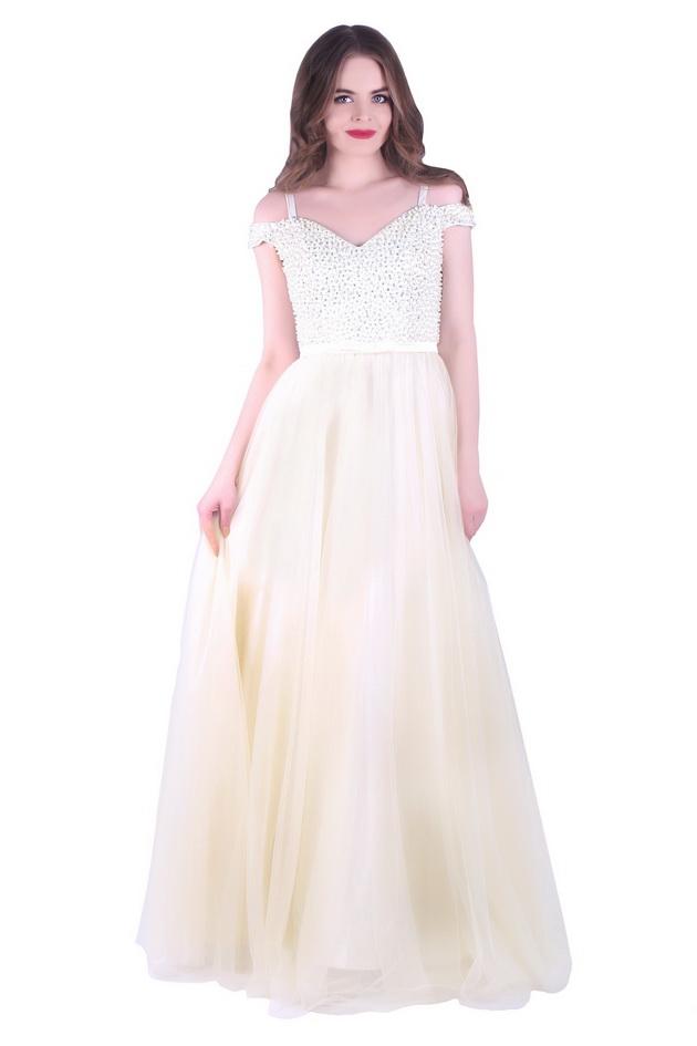 Арт: 39-81. Вечернее платье с открытыми плечами Выпускные фото 1