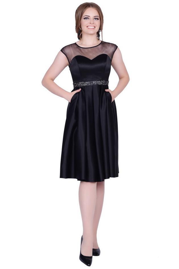 Арт: 39-86. Атласное платье Бестселлер фото 1