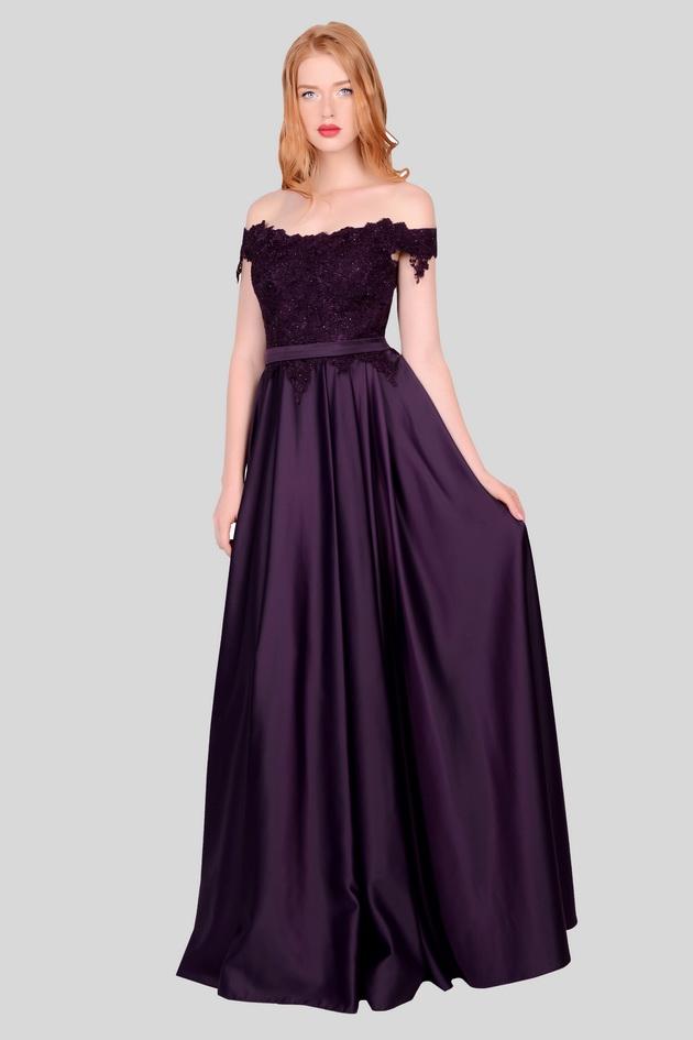 Арт: 40-04. Платье с вырезом кармен Вечерние фото 1
