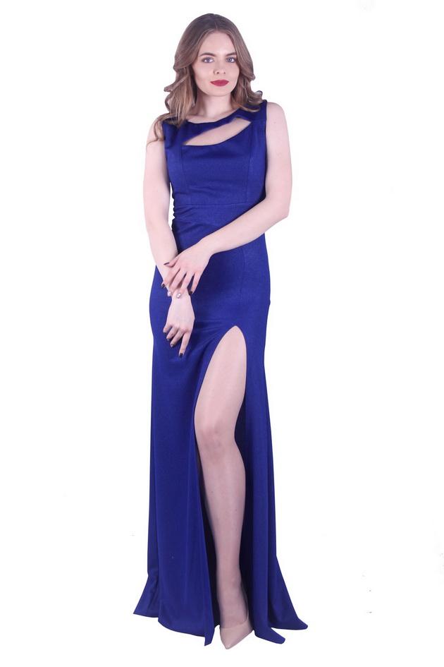 Арт: Трикотажное платье с вырезом Вечерние фото 1