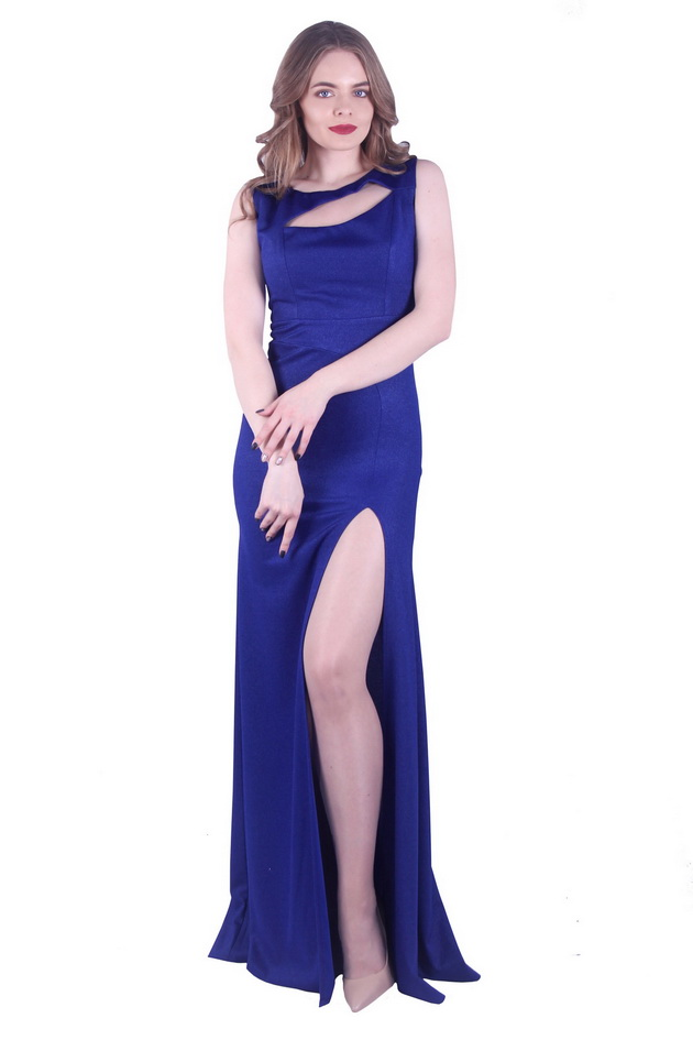 Арт: 40-13. Вечернее трикотажное платье с вырезом Вечерние фото 1