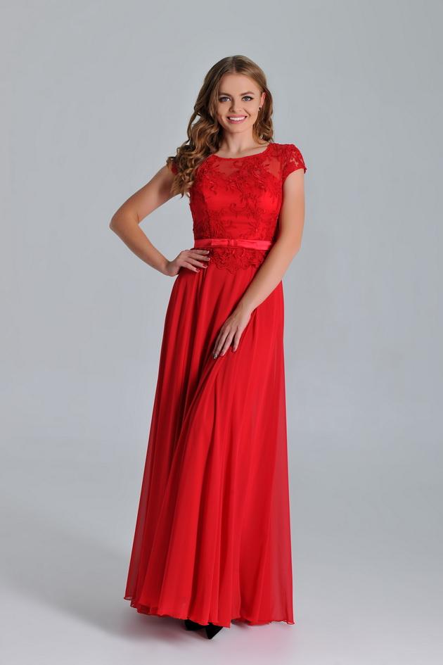 Арт: 40-63. Вечернее платье с кружевным лифом Выпускные фото 1