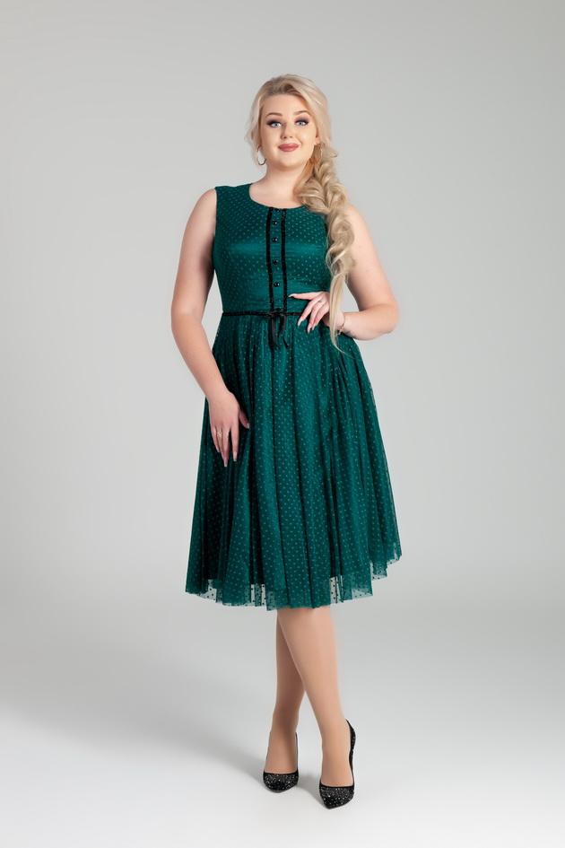 Арт: 41-33. Коктейльное платье в горох Коктейльные фото 1