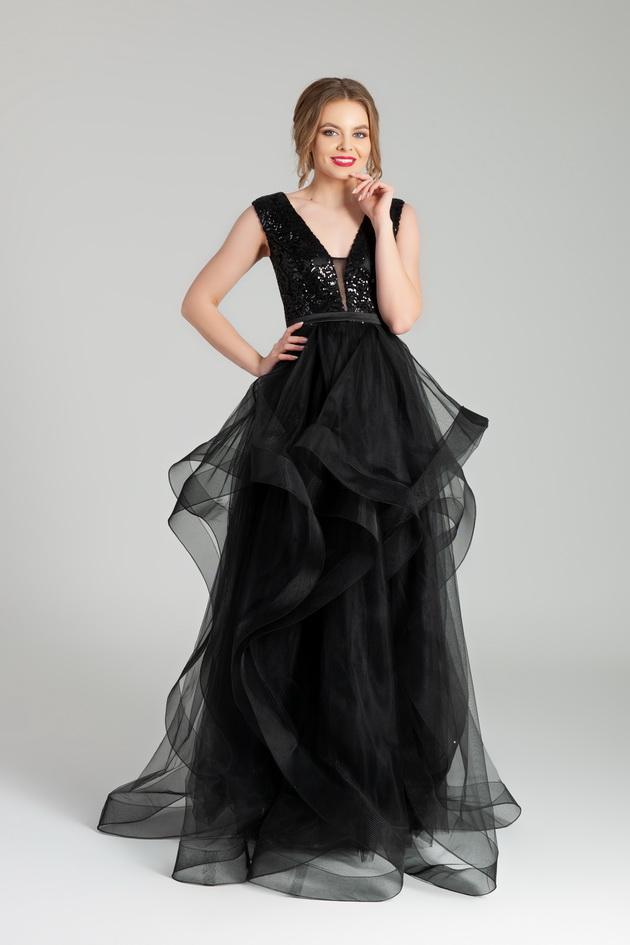 Арт: 41-57. Вечернее платье с каскадной юбкой Выпускные фото 1