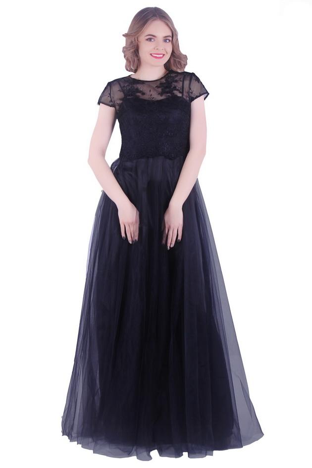 Арт: Платье из тафты, с рукавами крыло Вечерние фото 1