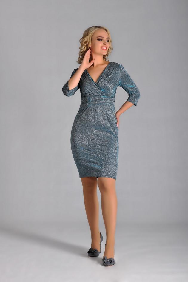 Арт: 41-70. Коктейльное платье с асимметричным поясом Коктейльные фото 1