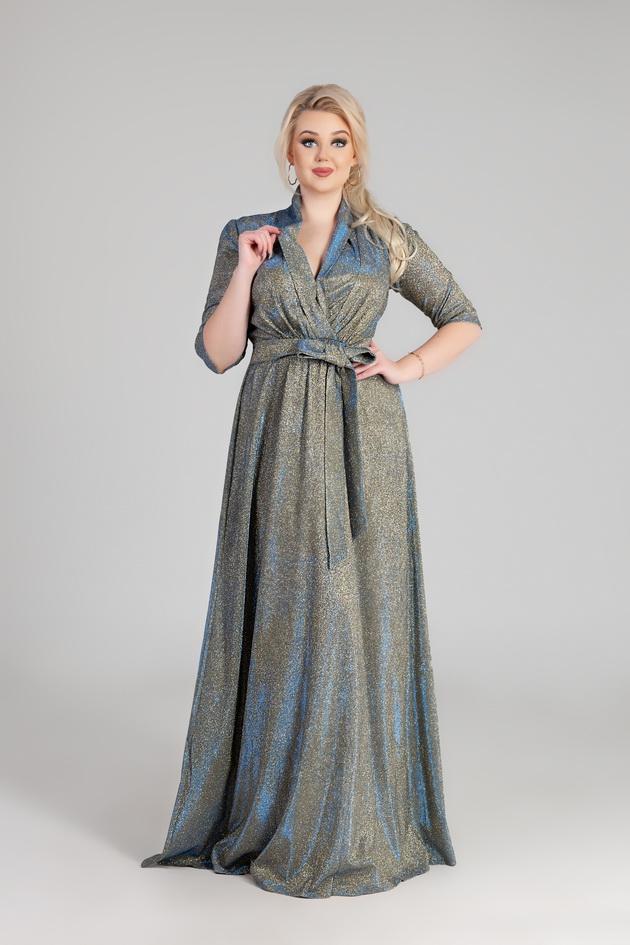Арт: 42-17. Вечернее платье с воротником шаль Вечерние фото 1