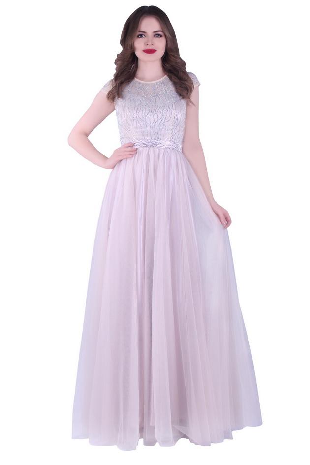 Арт: 42-72. Вечернее платье, украшенное стразами Вечерние фото 1