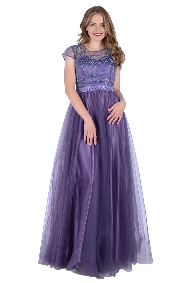 Арт: 42-72. Вечернее платье, украшенное стразами Выпускные фото 1