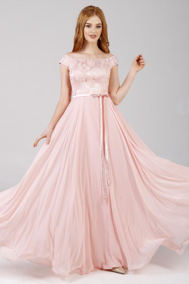 Арт: 42-82. Вечернее платье с открытыми плечами Вечерние фото 1