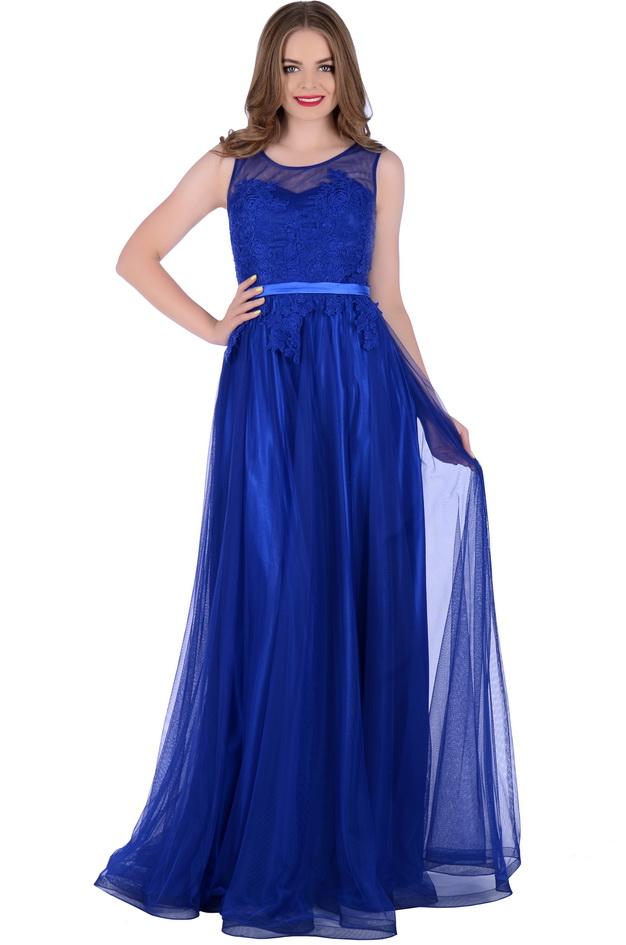 Арт: Платье в пол из сетки Вечерние фото 1