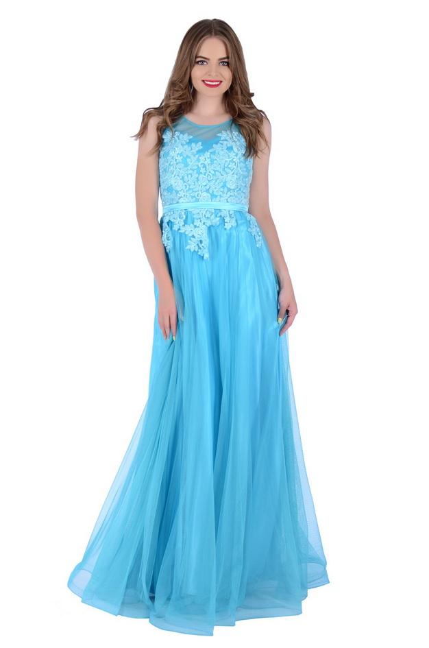 Арт: 42-87. Вечернее платье с кружевной аппликацией Свадебные фото 1