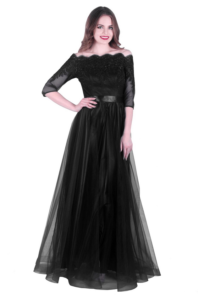 Арт: 43-26. Вечернее платье с открытыми плечами Вечерние фото 1