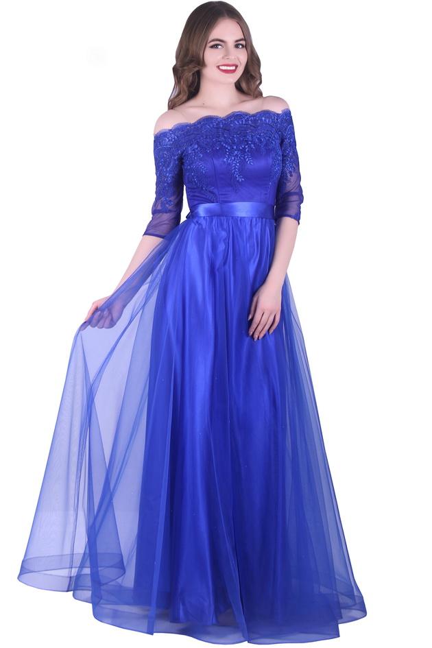 Арт: 43-26. Платье с открытыми плечами Вечерние фото 1