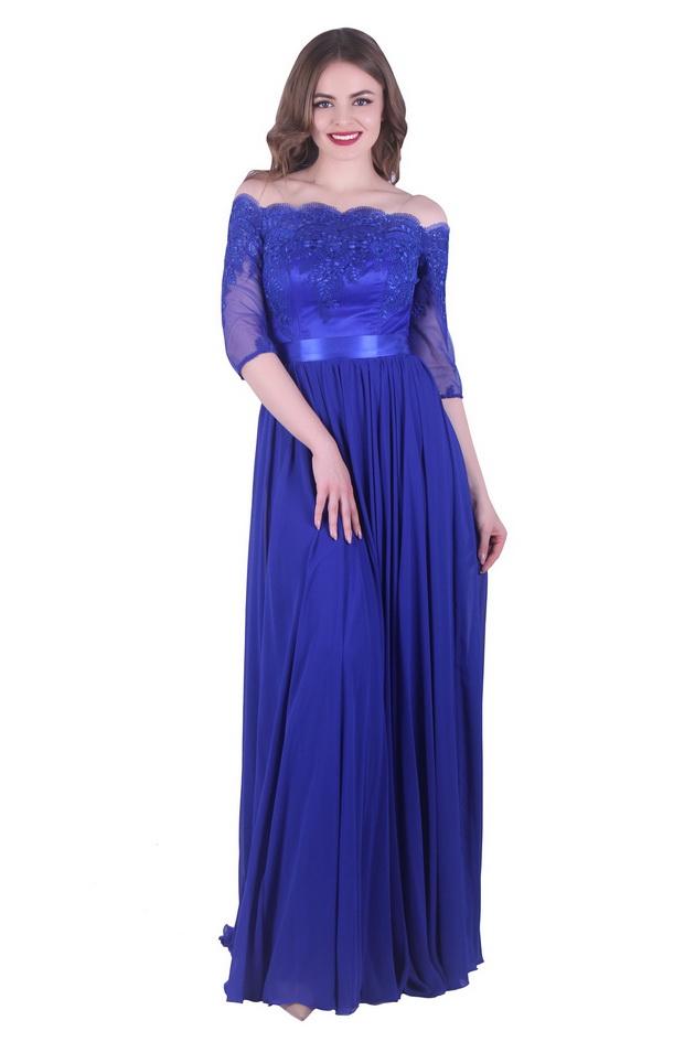 Арт: 43-27. Платье с открытыми плечами Вечерние фото 1