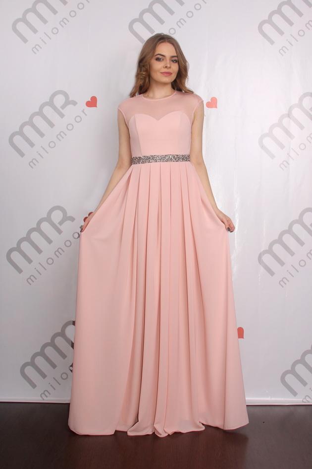 Арт: Вечернее платье в пол из шифона Вечерние фото 1