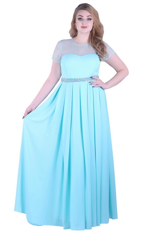 Арт: 43-36. Вечернее платье в пол из шифона Вечерние фото 1