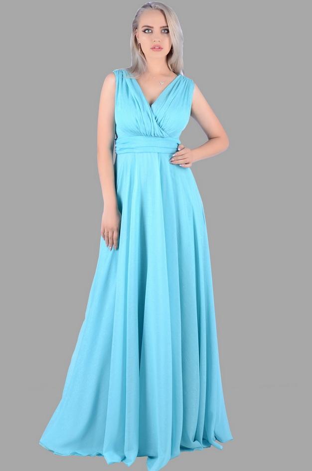 Арт: 43-48. Вечернее платье из шифона-люрекс с драпировками по лифу Вечерние фото 1