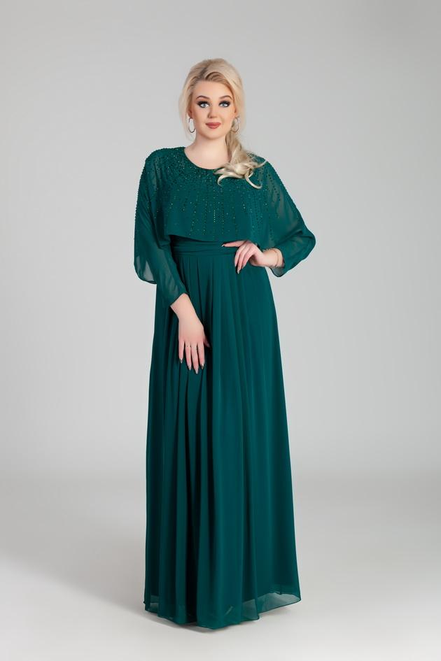 Арт: 44-67. Вечернее платье со складками, украшеное стразами Вечерние фото 1