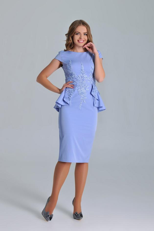 Арт: 44-99. Коктейльное платье-футляр с баской Коктейльные фото 1