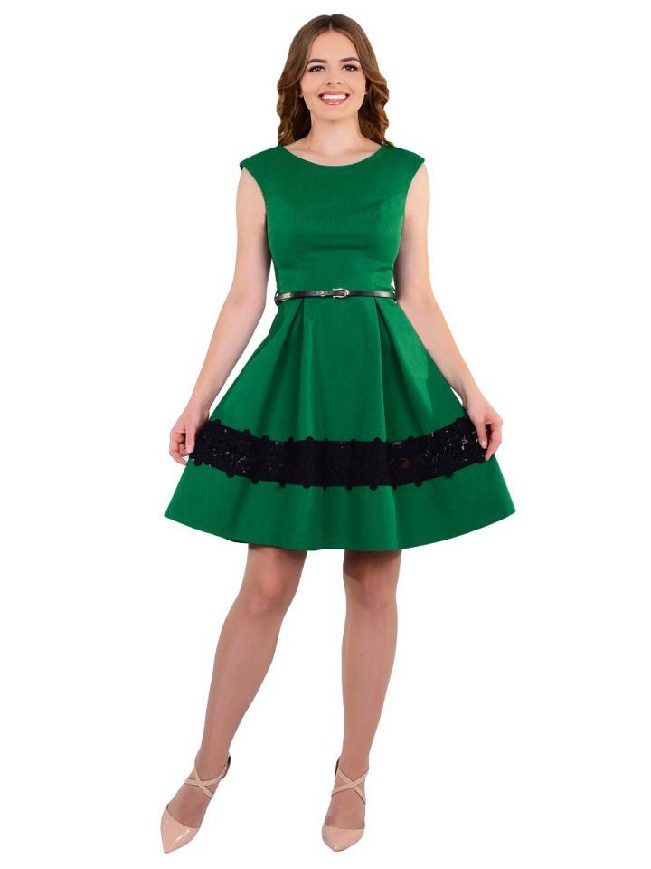 Короткое пышное коктейльное платье