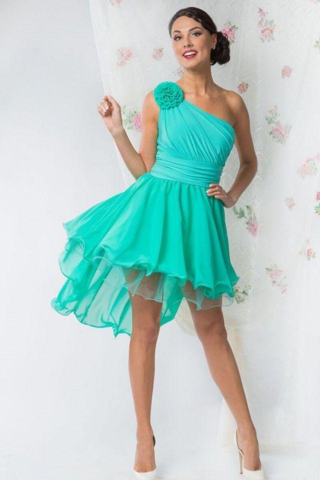 Ассиметричный крой платья