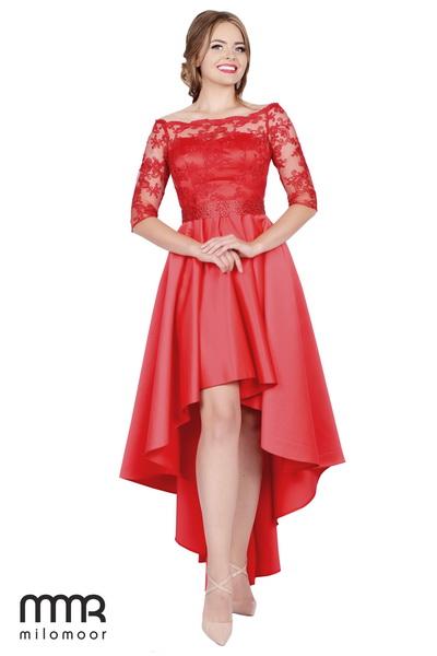 платья с асимметричным подолом