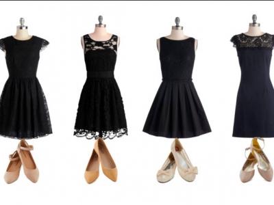 С какой обувью носят вечерние платья
