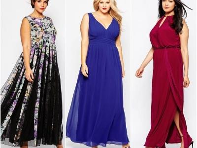 Как подобрать вечернее платье большого размера