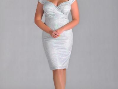 Коктейльное платье для полной женщины