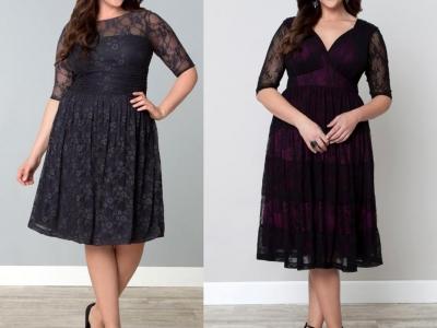 Черное платье для полных женщин – залог элегантности