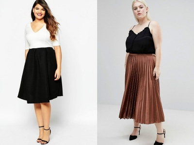 Правильная длина юбки для полной женщины